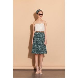 Amour Vert Silk Skirt